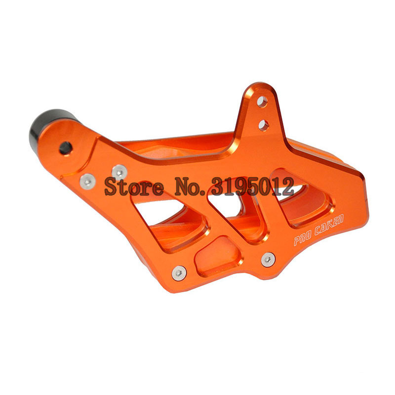 Billet Chain Guard Guide Protector Protection Slider For KTM EXC EXCF SX SXF XC XCF XCF-W XCW 125-530 2008-2015 Motocross Enduro orange billet rear brake pedal step tip for ktm 125 530 690 950 990 sx exc xcf sxf xc xcw excf excw excf duke adventure