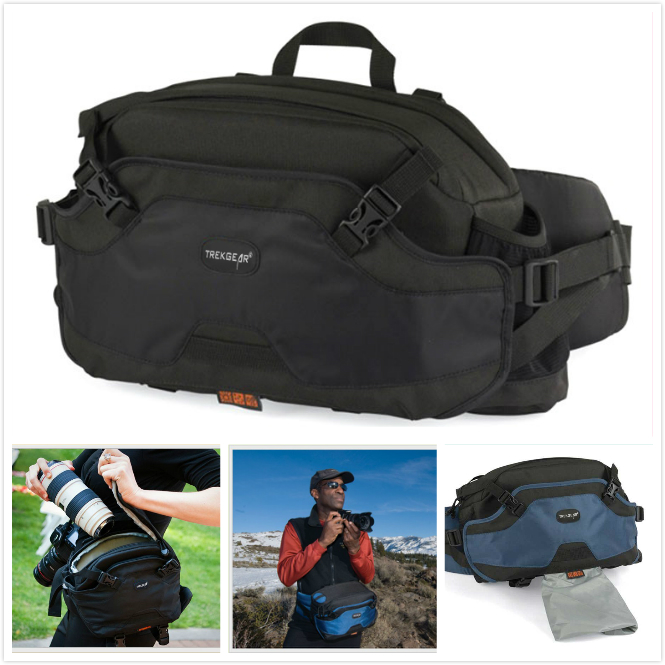TREKGEAR Inverse 200 AW Waistpack Camera tripod Beltpack lens Case Bag For Canon 50D Nikon D300 D700 D3 Sony A Pentax Gopro Hero сумка lowepro inverse 200 aw black