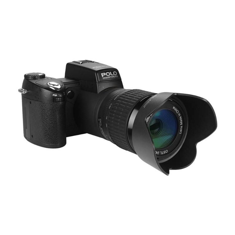 2018 HD JOZQA POLO D7300 appareil photo numérique 33 millions de pixels Auto Focus professionnel appareil photo vidéo reflex 24X Zoom optique 3 objectif HD - 5