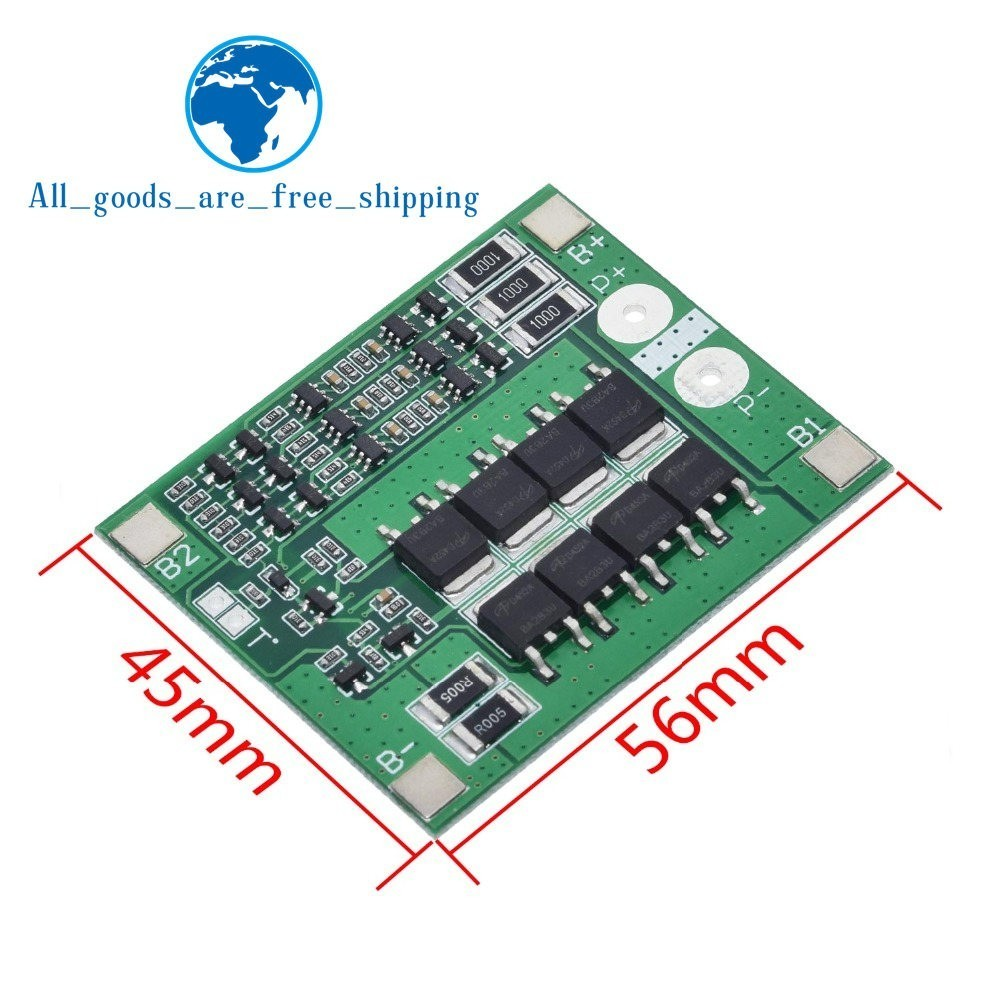 Image 2 - TZT 3S 25A Li ion 18650 BMS PCM Battery Protection Board BMS PCM With Balance For li ion Lipo Battery Cell Pack Module DIY-in Integrated Circuits from Electronic Components & Supplies