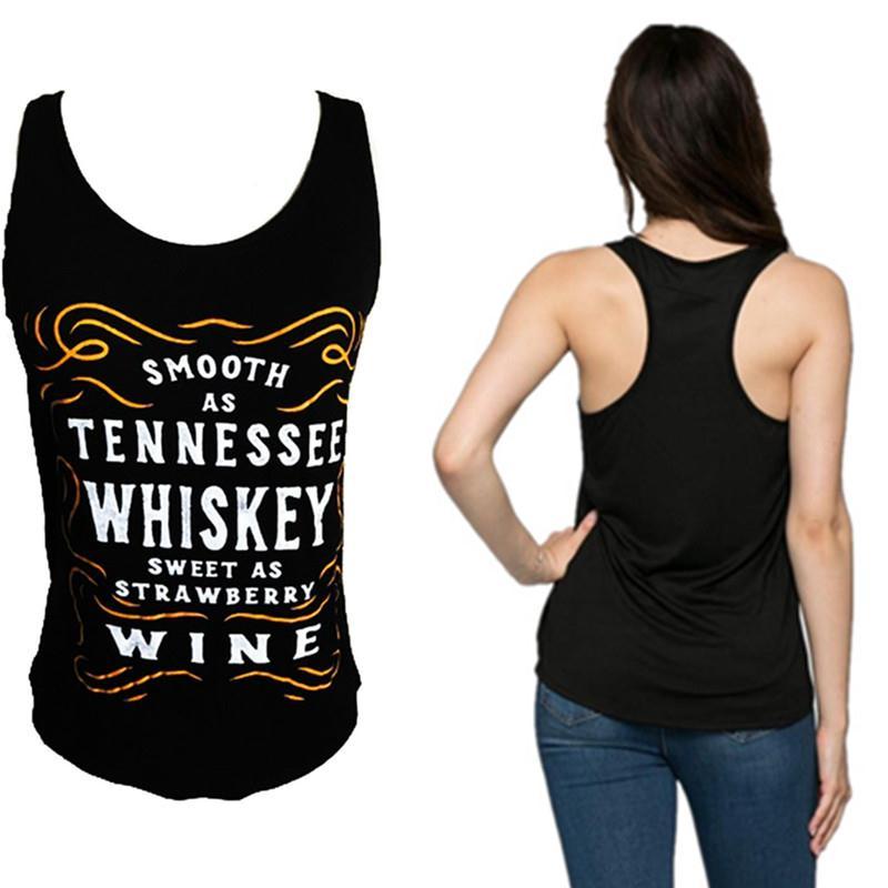 Women Whiskey Slogan Tank Harajuku Tumblr Bts Ulzzang Tops Plus Size 3XL Blusas Soft Sporting Workout Baseball Female Vest Camis
