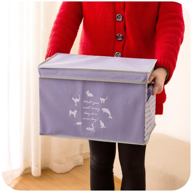 New Non Woven Fabric Folding Underwear Storage Box Bedroom: Wardrobe Storage Box Non Woven Fabric Brief Clothes