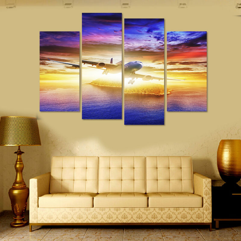 Canvas print art 4 Panel HD Printed Canvas painting Outer Space Wall ...