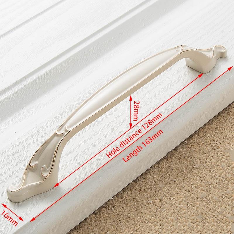 KAK цинк Aolly цвета слоновой кости ручки для шкафа кухонный шкаф дверные ручки для выдвижных ящиков Европейская мода оборудование для обработки мебели - Цвет: Handle-8806-128