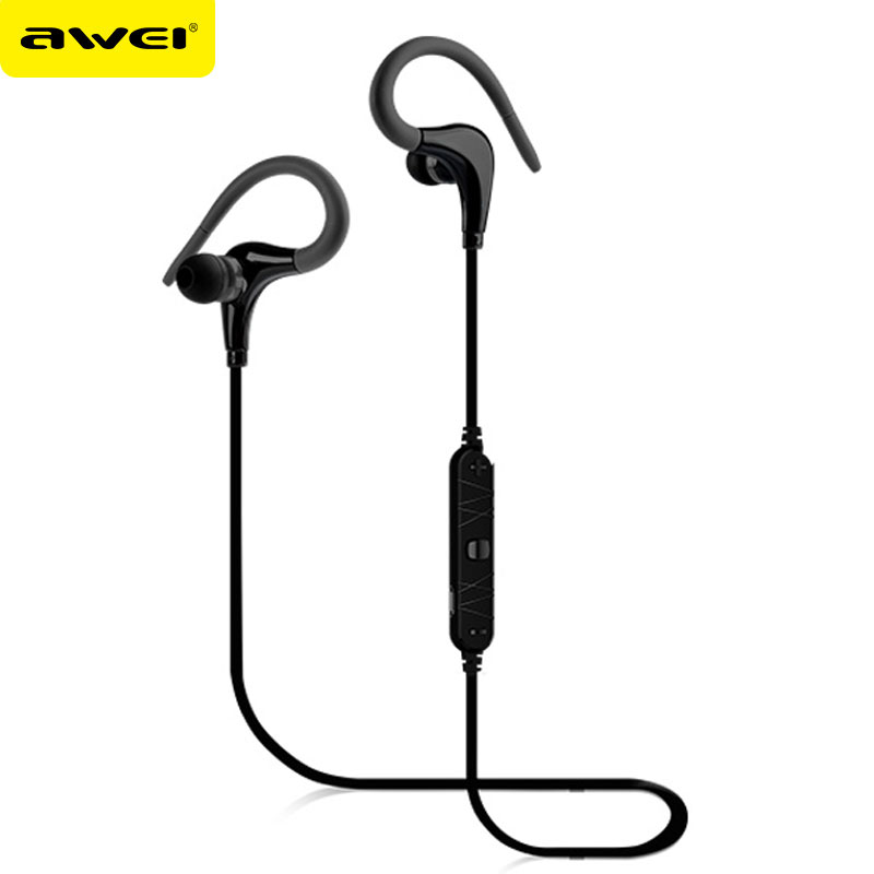 AWEI A890BL Sport Wireless Headphones Auriculares Bluetooth Earbuds Earphone With Microphone Fone de ouvido kulaklik Audifonos showkoo stereo headset bluetooth wireless headphones with microphone fone de ouvido sport earphone for women girls auriculares