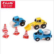 ZALAMI Engineering Vehicle Combination Electric Train Set Toys For Children Kids Wooden Magic Tracks Rail Car Model Gift(China)