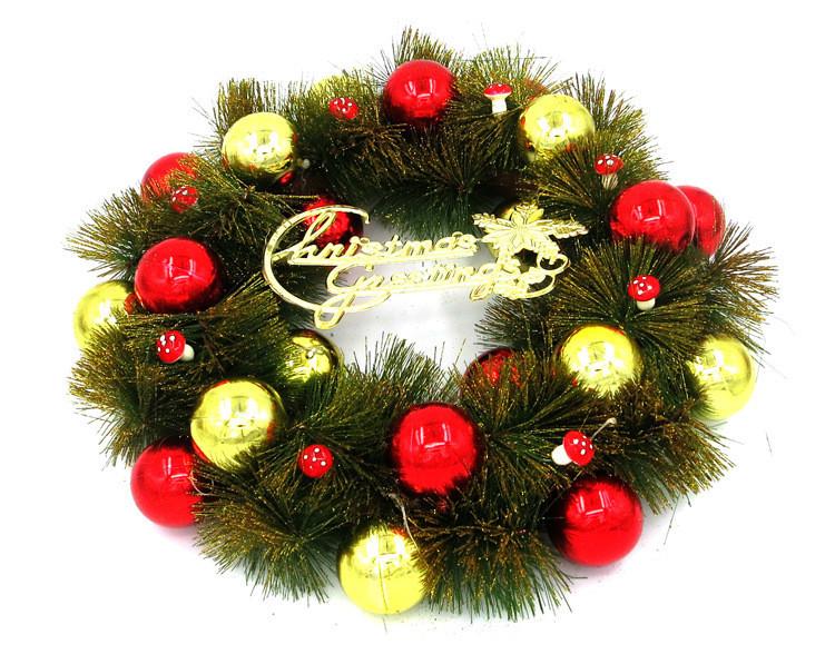 40 cm puerta guirnalda de la navidad grande adorno de pared decoracin roja guirnalda de la