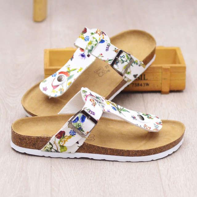 807214ff1393 Silver woman flip flops clip toe gladiator sandals woman cork sandals  floral belt hasp slippers ladies