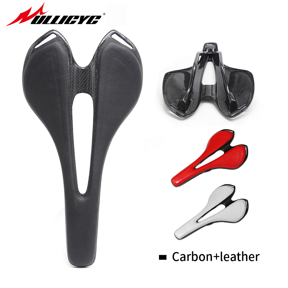 Full Carbon Fiber Road Bicycle Saddle New Mountain Mtb Cycling Bike Seat Saddle Cushion Bike Parts Bicycle Accessories
