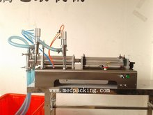 100 1000ml Double Heads Liquid Pneumatic Filling Machine GRIND