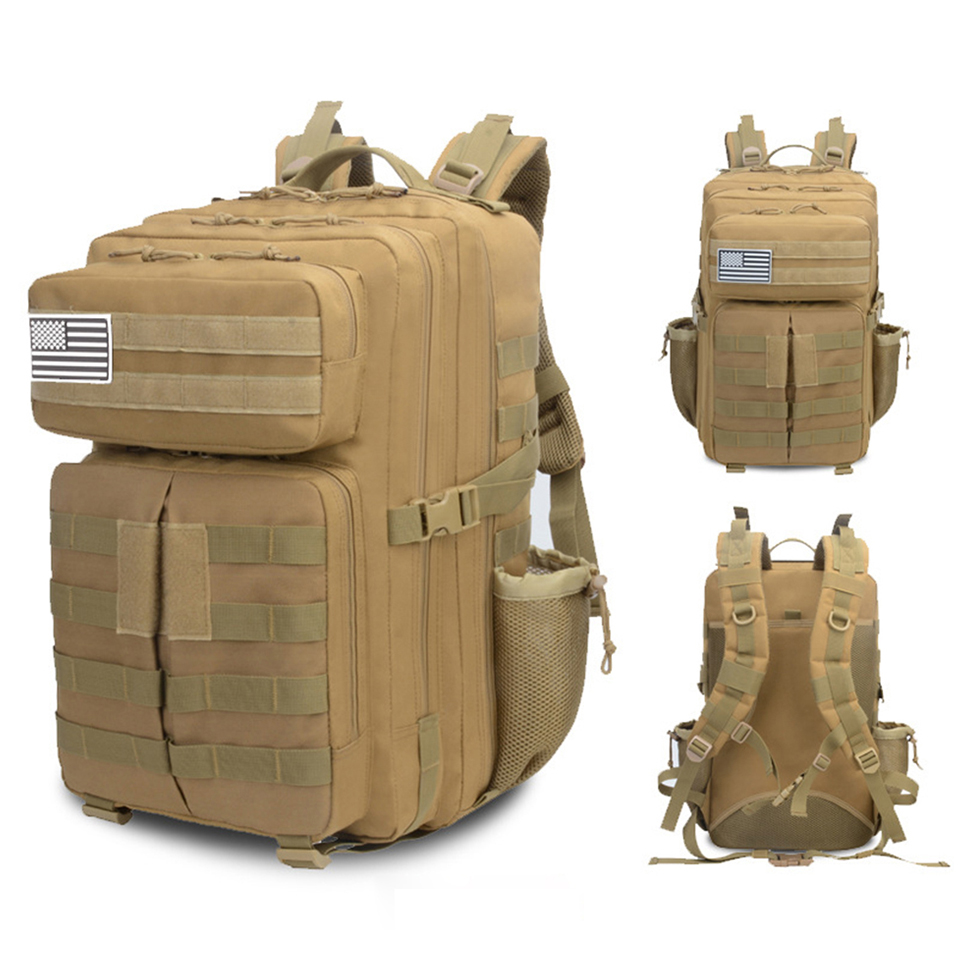 Sac à dos extérieur 45L sac à dos militaire assaut tactique sac à dos armée sac étanche grande capacité randonnée Camping sacs à dos