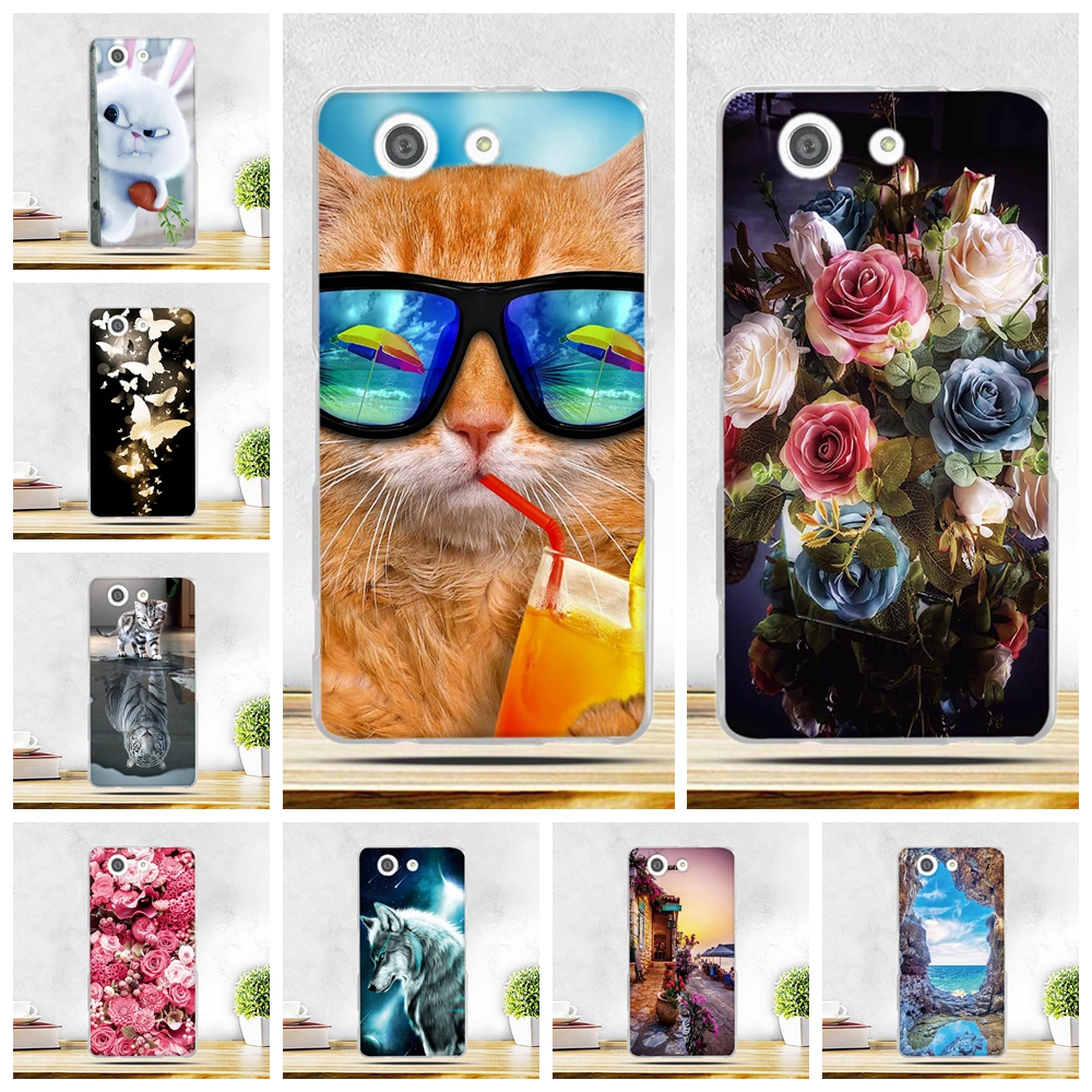 Case For Sony Xperia Z3 Compact Xperia Z3 mini M55W D5803 D5833 Phone Bags Soft Silicone Cases for Sony Xperia Z3 Compact Z3mini