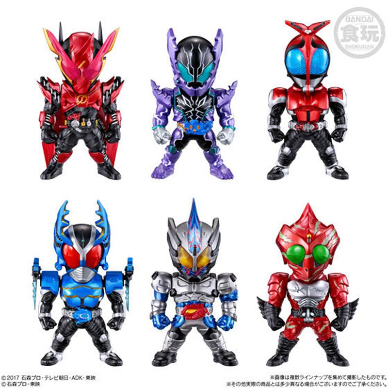WSTXBD Original BANDAI 6Pcs/Set Q Version FW Gundam Convverge Kamen Rider 10 Figure Toys Figurals Model Kids Dolls Brinquedos bandai bandai gundam model sd q version bb 309 sangokuden wu yong bian xiahou yuan battle