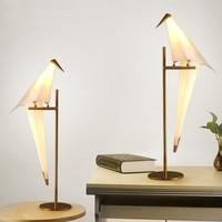 Nordic Postmodern Table Lamps LED Desk Lamps Bedside standing lamp light fixtures home lighting abajur Parrot Table Lights