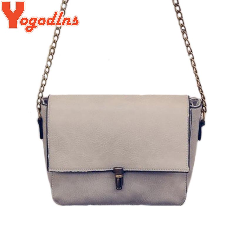 2017 new Designer chain bag Women Messenger Bags PU Leather Small Crossbody Shoulder Bags Women Black Casual Bag Dollar Price