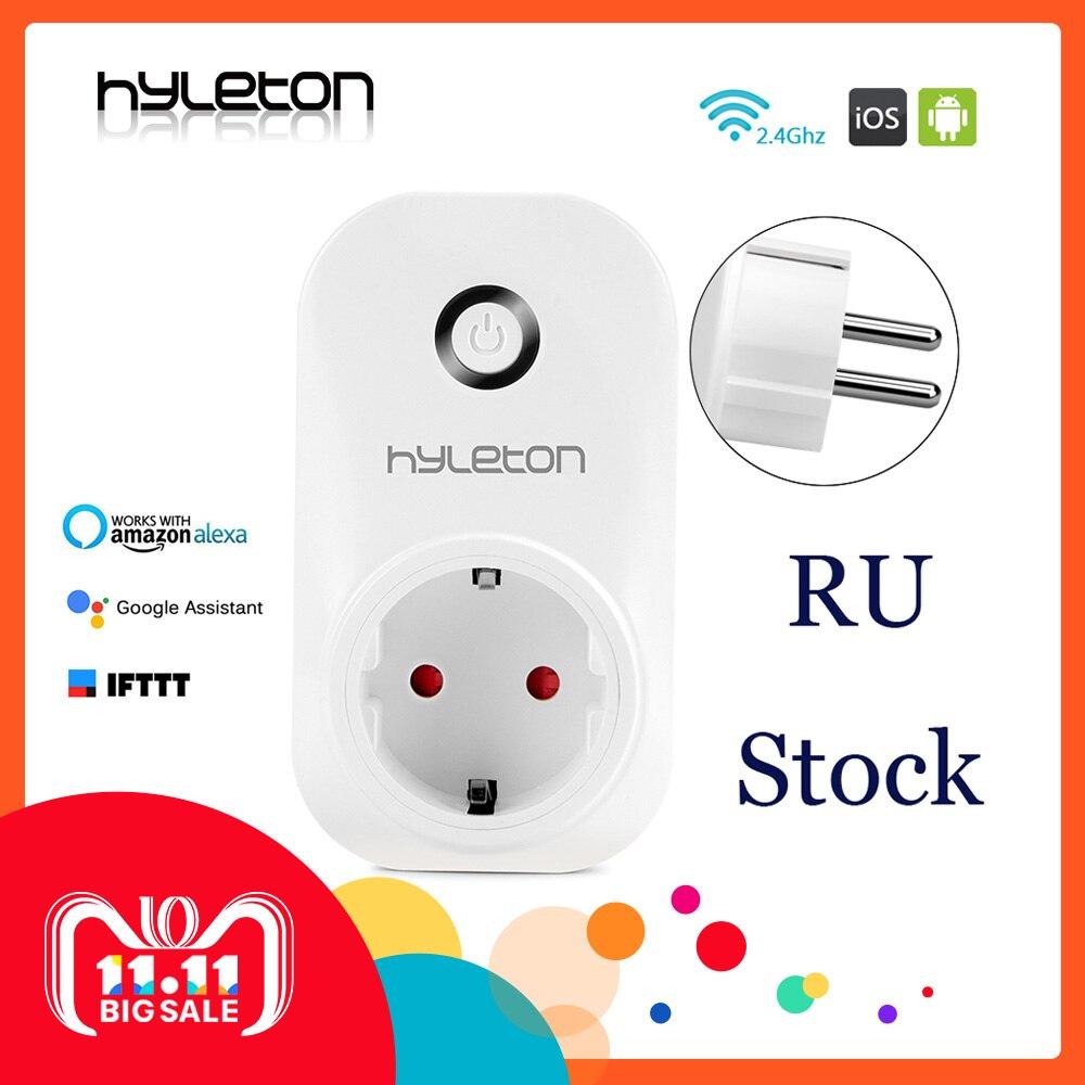 все цены на Hyleton smart plug wifi socket remote control switch 10A Support 2.4GHz Wifi plug Networks Electrical EU/US/AU/UK Power Switch