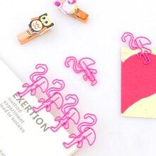 10/много прекрасный розовый фламинго закладка планировщик скрепки металлические закладки материал для книги канцтовары школа канцелярских товаров