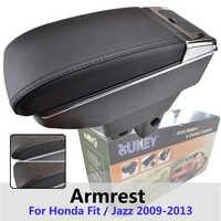 Xukey Central Armrest For Honda Fit Jazz 2009 - 2013 Console Center Black Storage Car Styling Box Ashtray 2011 2012