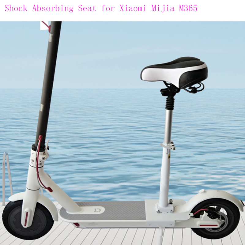 Electric Skateboard Seat Foldable Scooter Saddle for Xiaomi Mijia M365 Shock Absorbing Chair Height Adjustable with Seat Bumper original xiaomi mijia qicycle ef1 electric scooter bicycle mini scooter foldable electric bike e bike xiaomi brand scooters