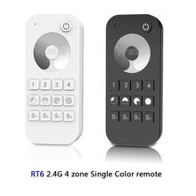 2.4G RF wireless Single Color /Color temperature/RGB/RGBW/RGB+CCT led 13-key touch wheel remote light controller