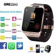 Купить Новые Bluetooth Смарт часы SmartWatch dz09 android часы Телефонный звонок сигнализации SIM TF слот Камера для iosphone Samsung Huawei Xiaomi