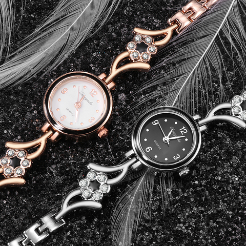 New Fashion Rhinestone Watches Women Luxury Brand Stainless Steel Bracelet watches Ladies Quartz Dress Watches reloj mujer Clock Islamabad