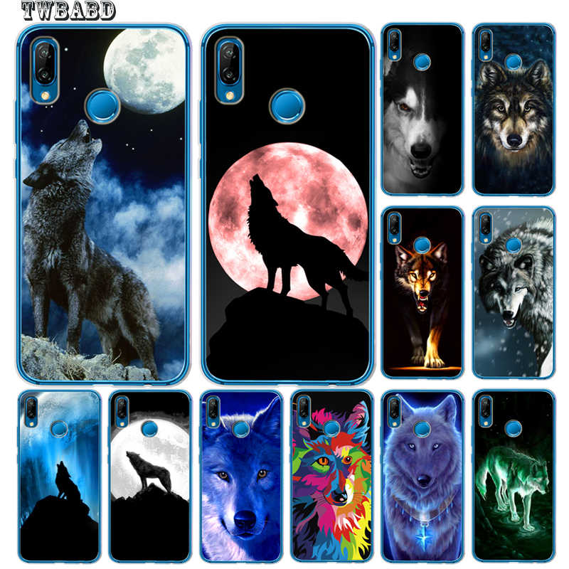 Domineering Wolf For Huawei P30 P20 Lite Pro P10 Lite P8Lite P9Lite 2017 P Smart Mate 9 10 20 Lite Pro Soft Bumper Phone Case