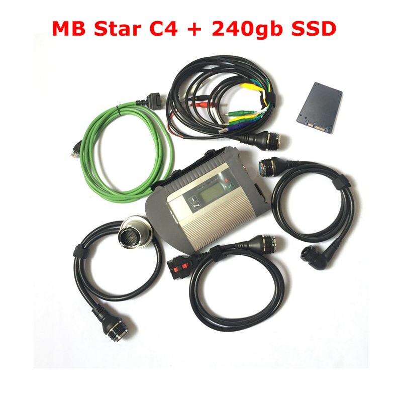 2019 Top 2019/07 puce complète MB Star C4 outil de Diagnostic avec 240 gb SSD avec fonction Wifi MB SD Connect Compact4 OBD2 Scanner