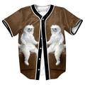 Gato persa Sala Jersey Summer tees Estilo animal 3d Hip Hop tops sobrecamisa hombres camisetas camiseta divertida