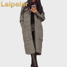 Laipelar New Autumn and winter knit cardigan sweater buttons blouses wild Jacket Knitted Cashmere women Coat Overcoat