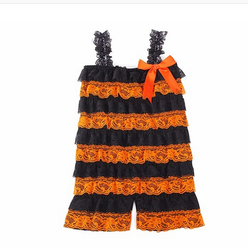Baby Rompers Lace & Ribbon Bow Halloween Siamese Romper For Newborn Baby Girl To 2T Toddler Girls Infant Jumpsuit Clothing newborn baby rompers baby clothing 100% cotton infant jumpsuit ropa bebe long sleeve girl boys rompers costumes baby romper