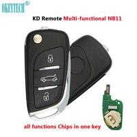 OkeyTech NB11 серия Многофункциональный KD ключ дистанционного управления авто ключ 3 кнопки для Keydiy KD900 URG200 KD200 ключевой программист
