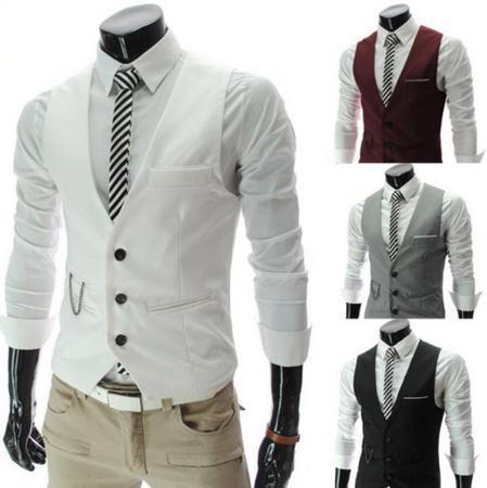 The new 2015 men's fashion leisure suit vest / Men's wedding banquet gentleman suit vest / Beckham with suit vest v-neck men