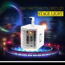 2016 Hot Selling DMX 7-pattern Colored Intelligent Voice Control LED Stage Light Sound-activated Show Projector