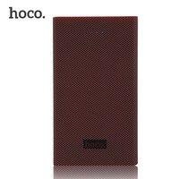 Hoco 13000 mah בנק כוח בנק כוח אספקת חשמל נייד xiaomi סיבי פחמן עם חיווי led powerbank עבור iphone andriod