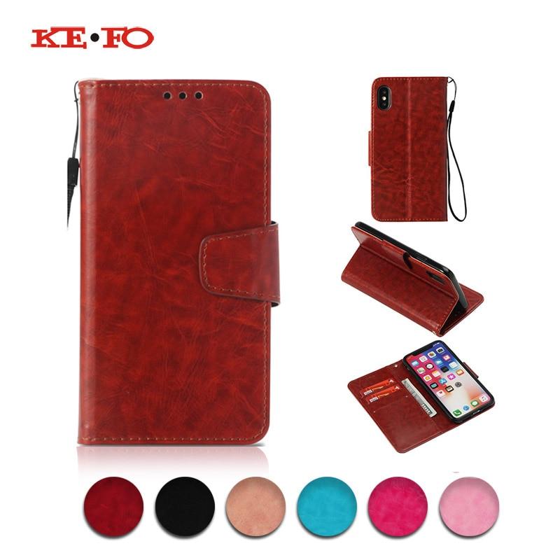KEFO For Apple Iphone X 10 8 Plus Case Retro PU Leather Flip Wallet Cover For Iphone 5C 5S SE 6 6S 7 8 Plus 8Plus X 10 Coque