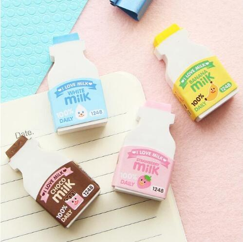 Fresh I Love Milk Rubber Eraser Primary Student Prizes Promotional Gift Stationery