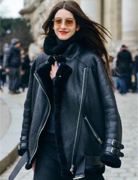 1543680bc EMS free shipping Acne studios oversized leather jacket deep winter ...