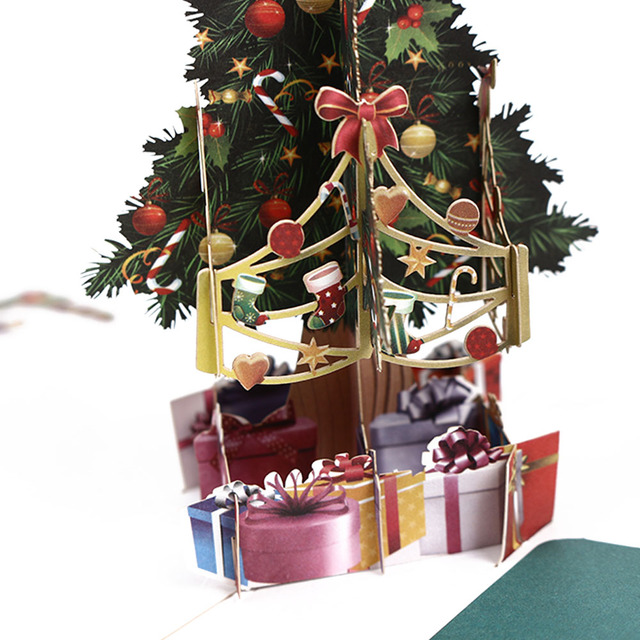 Frohe Weihnachten 3d.Us 2 37 16 Off 1 Pcs Beliebte Frohe Weihnachten Baum Vintage 3d Pop Up Grußkarten Handgemachte Papier Nach Weihnachten Geschenke Souvenirs