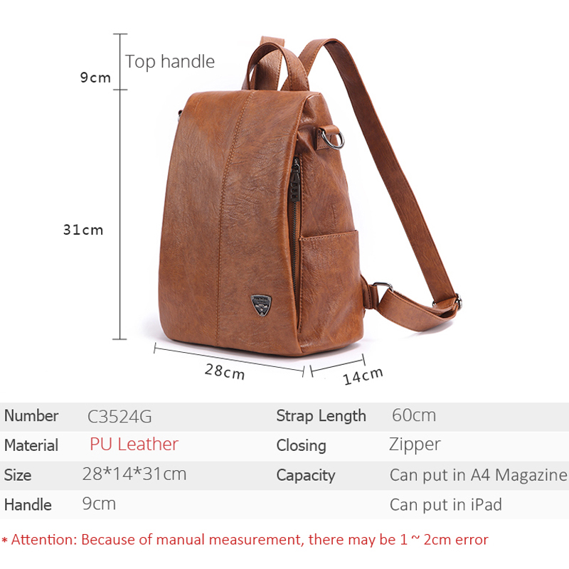 Image 3 - POMELOS Backpack Female Designer New Women PU Leather Backpack Anti Theft High Quality Soft Back Pack Backpacks School Bags-in Backpacks from Luggage & Bags