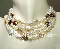 free shipping >>>>>Noblest genuine coin pearl necklace 80 a
