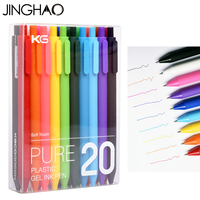 20Pcs Lot Jinghao KACO PURE Series Cute Colorful Gel Pens Fashion Candy Color Gel Pens For