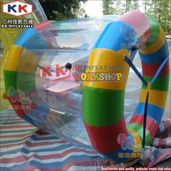 Hot sale Kids inflatable rolling cylinder,inflatable roller tube for lake
