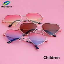 2c219c3eb9c5ef DIGUYAO Garçons Filles Métal Cadre Multicolore Enfants lunettes de Soleil  Marque Designer Revêtement De Mode Filles Enfants Lune.