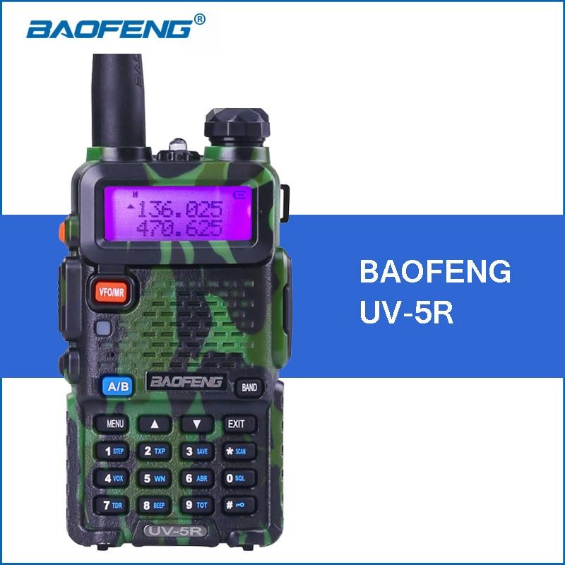bilder für Baofeng uv-5r camouflage walkie talkie 5 watt vhf uhf handlichen walkie talkies uv5r zweiweg cb funksprechkommunikations transceiver
