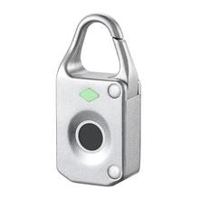 ZT10 New intelligent fingerprint digital luggage safe electronic door cabinet rechargeable padlock lock