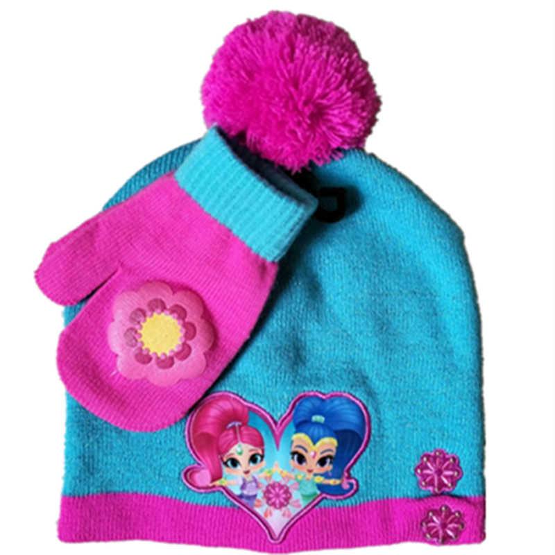4b9e52e262ad5 Cartoon Shimmer And Shine Wishing elf Cotton knitting Warm Soft Winter  thick hat Cosplay Caps Fleece