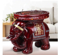 Elephant Stool Home Decor,Resin Wood,Animal style Chair,Large size,living room furnishings Total Size: L38*W19*H28 cm