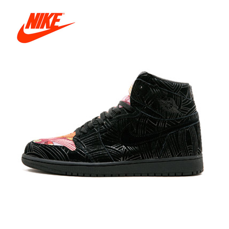 Official Original Nike Air Jordan 1 Retro High OG LHM AJ1 Men's basketball shoes Outdoor sports AH7739-001 баскетбольные кроссовки nike air jordan air jordan retro hi og laser aj1 705289 100
