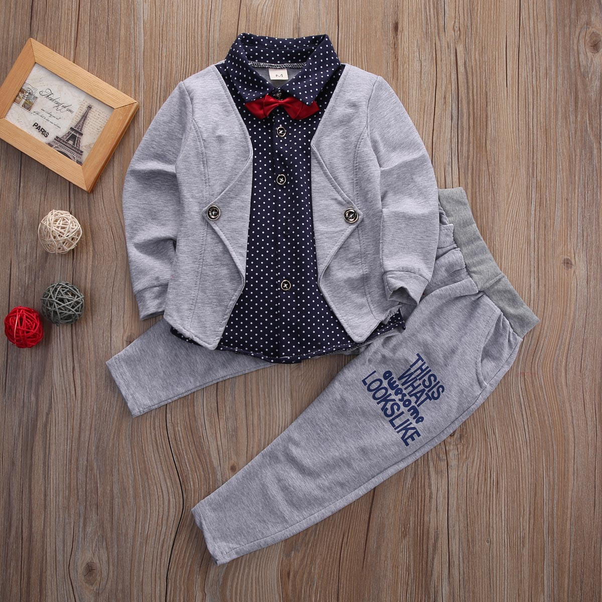 Toddler Kids Baby Boys Cardigan Shirt Tops Long Pants Gentleman Clothes Outfits